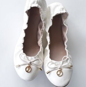 Juicy Couture White Ballet Flats Size 7